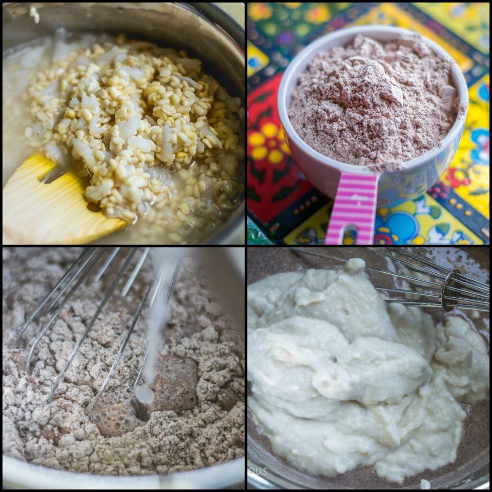 4 steps to make Ragi & Kale Idli | Finger Millet & Kale Steamed Cakes