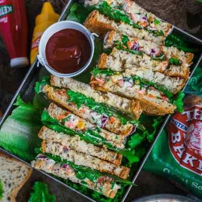 Indian Style Spiced Yogurt Sandwich | Dahi Sandwich