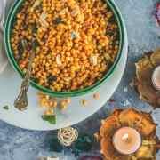 Kara Boondi Mixture in a bowl