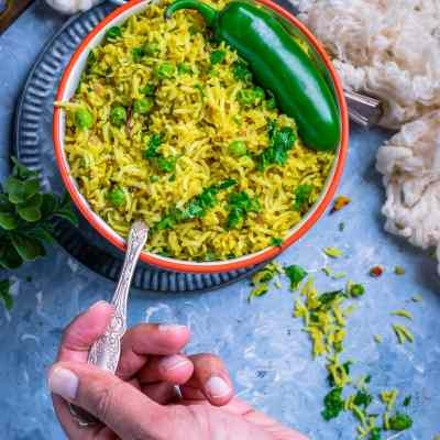 Green Peas Pulao Recipe | How to make Matar Pulao
