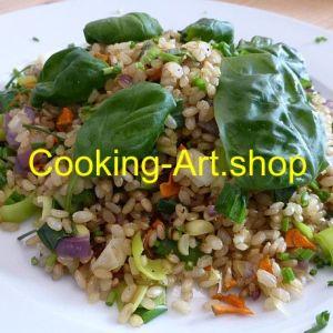 Vollkornreis mit Gemüse, groß