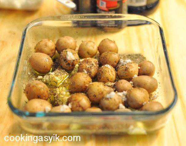 kentang panggang, resep baby potatoes, resep kentang panggang mudah, baked potatoes