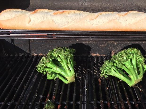 broccoli on grill