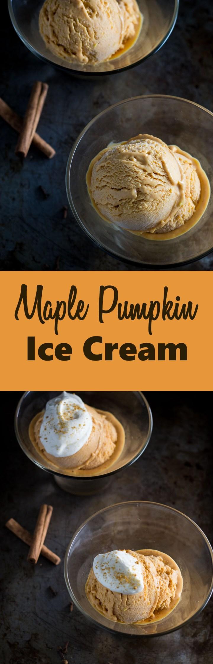 Maple Pumpkin Ice Cream #pumpkin #icecream #dessert #fall #thanksgiving