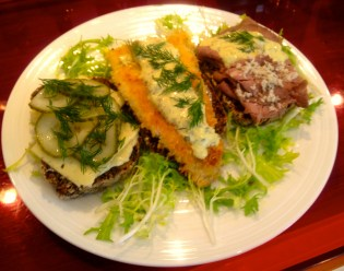 open sandwiches, smorrebrod, danish food,