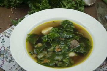 Soup - Green Borscht - Green Borscht With Clarified Stock