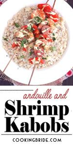 Andouille and Grilled Shrimp Kabobs