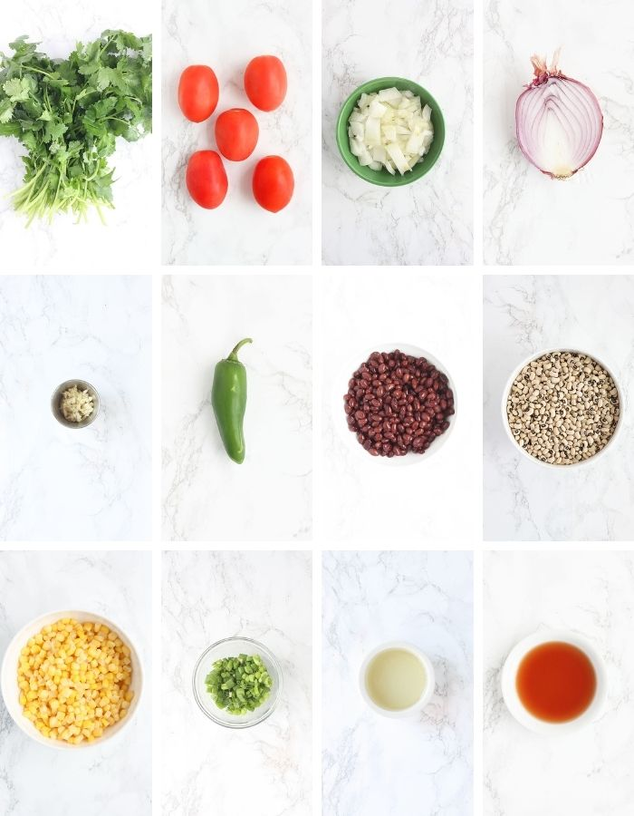 Texas Caviar Ingredients