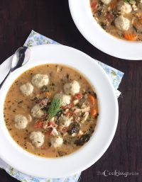 Got leftover turkey this holiday season? Turn it into a warm and inviting turkey soup packed with vegetables and fluffy dill dumplings.