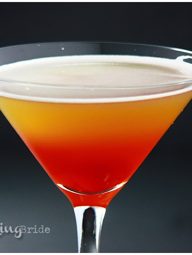 Don't like the traditional dry martini? This yummy martini recipe includes Tuaca, amaretto, and pineapple juice.