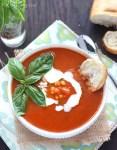 Corn and Tomato Basil Soup - CookingBride.com