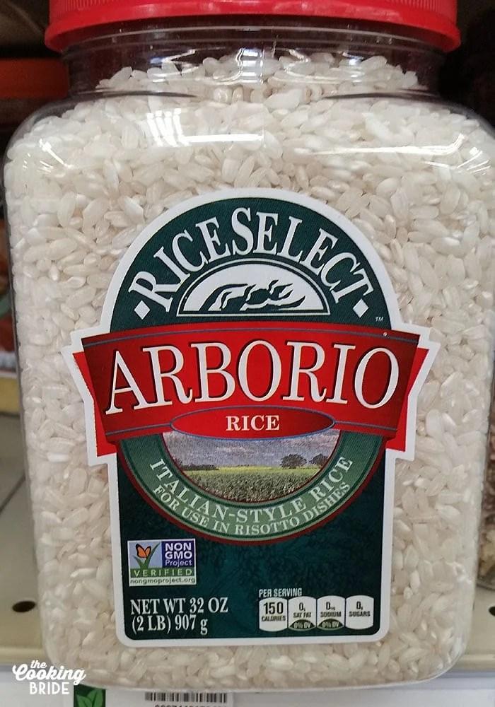 Arborio Rice for Easy Mushroom Risotto