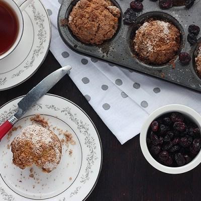 Cranberry Eggnog Christmas Muffins