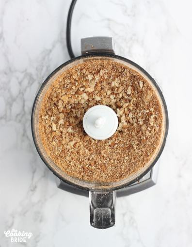 ground breadcrumbs in a food processor