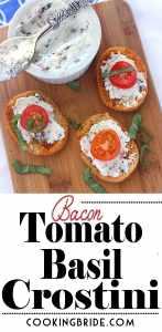 Bacon Tomato Basil Crostini