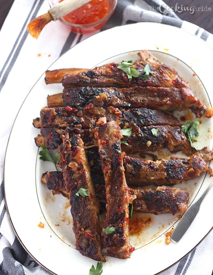 Ribs with Apricot Bourbon Sauce 029 WM