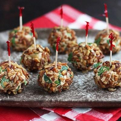 Brandy Infused Mini Cheese Balls