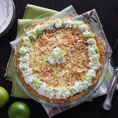 Coconut Lime Icebox Pie