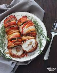 Bacon Wrapped Turkey Breast P