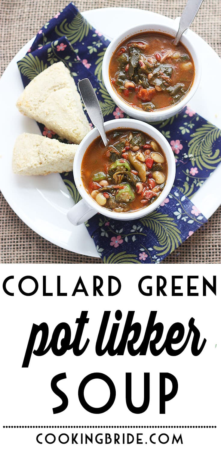 Pot liquor, the flavorful liquid leftover after cooking down a pot of greens, is the base of this hearty soup. It's also chock full of tender beans and veggies.