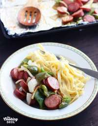 Smoked Sausage Sheet Pan Dinner