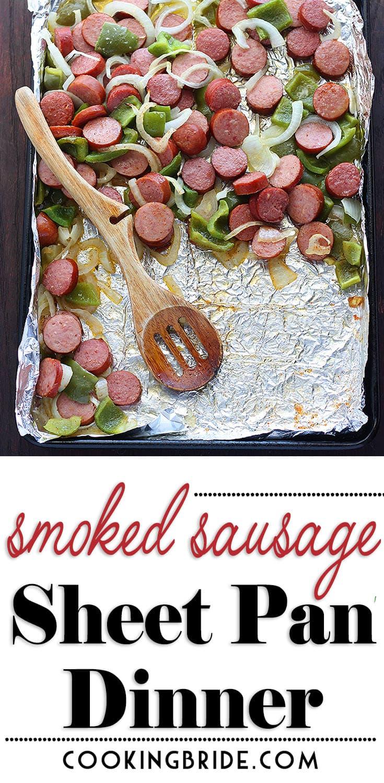 Smoked Sausage Sheet Pan Dinner