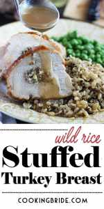 Wild Rice Stuffed Turkey Breast