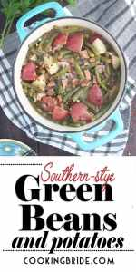 Southern green beans with ham and potatoes