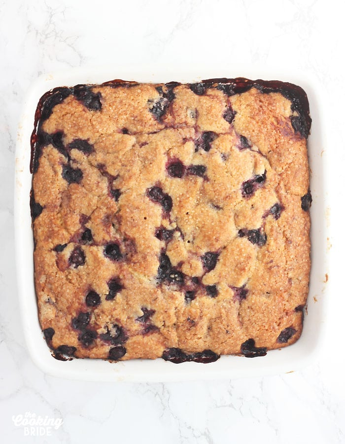 baked blueberry breakfast cake