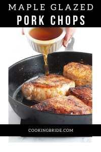 maple glazed pork loin chops