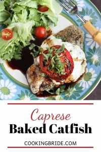 Caprese Baked Catfish Fillets