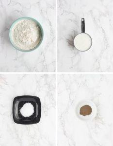 cream gravy ingredients including flour, milk, salt and pepper