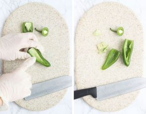 how to remove the membrane and seeds from an jalapeno pepper