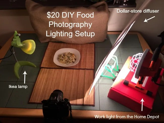 DIY Food Photograpy Lighting Setup
