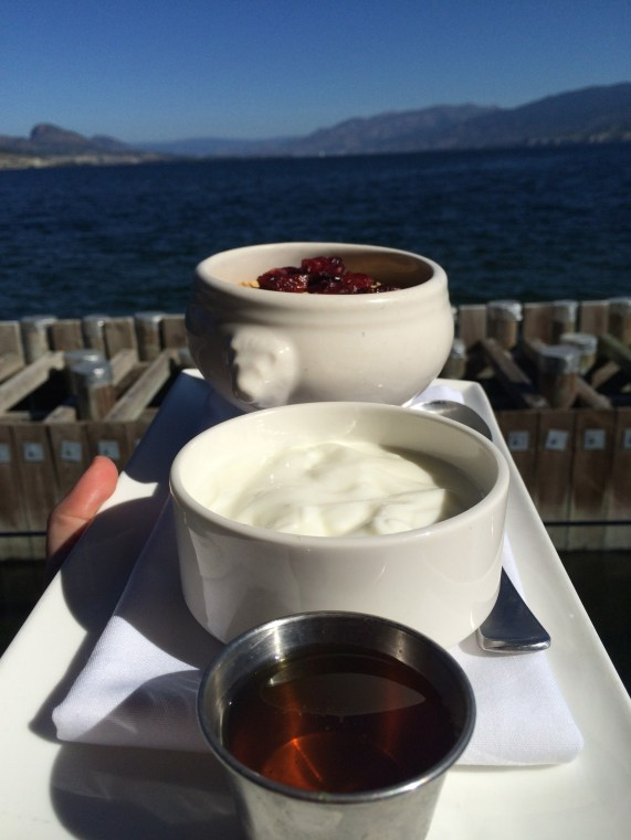Breakfast of champions! Plus, the view...