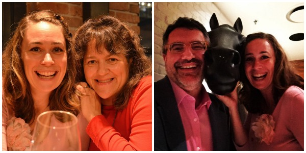 Photo of Ariane Colenbrander & I by Cathy Browne, Horsing around with Don Genova