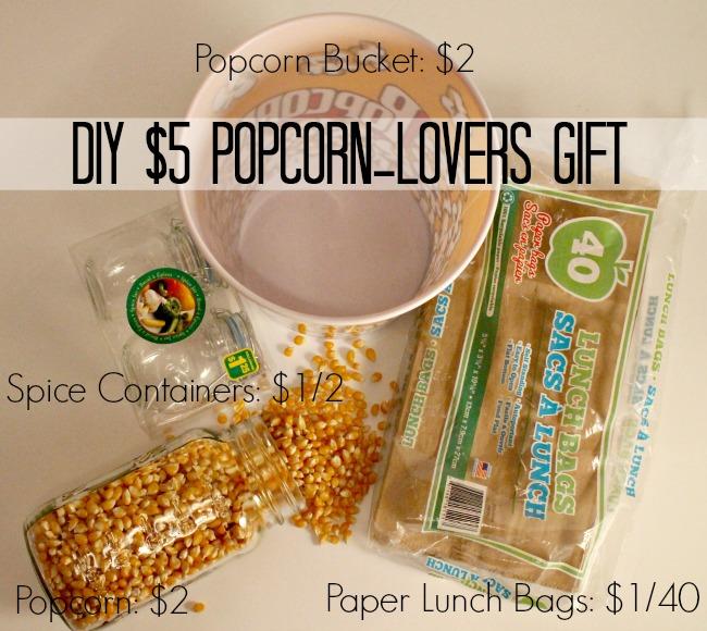 DIY 5 popcorn lovers gift