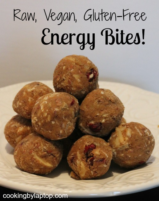 raw vegan gluten free energy bites
