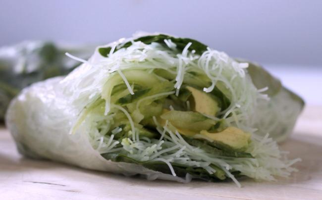 green goddess salad rolls
