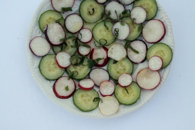 Radish and Cucumber Carpaccio