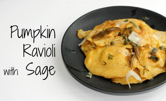 Pumpkin Ravioli with Sage
