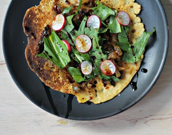 Socca PIzza {Vegan, Gluten-Free}