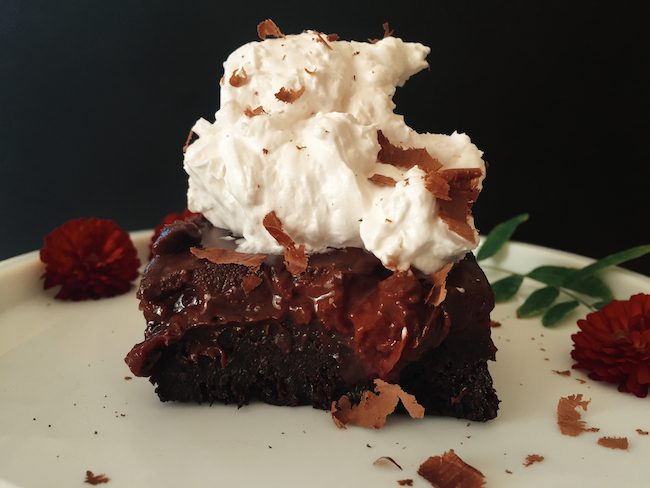 black forest brownie
