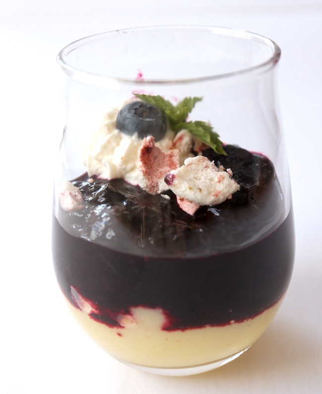 Vegan Blueberry Lemon Eton Mess