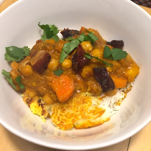 Vegetarian apple and carrot stew