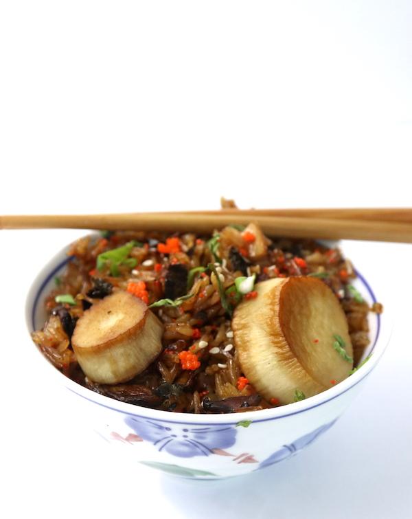 Vegan Seafood Fried Rice