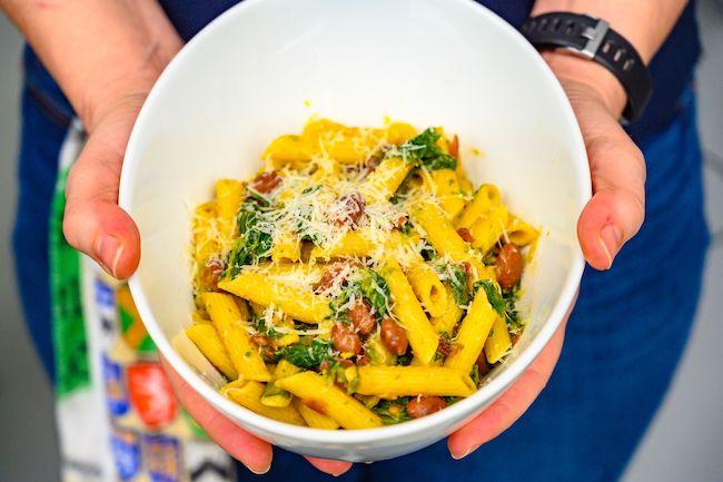 Rapini and Barlotti Bean Pasta Dyson