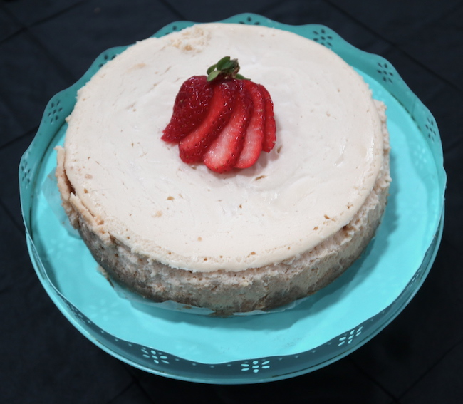 Cheesecake made in the Instant Pot