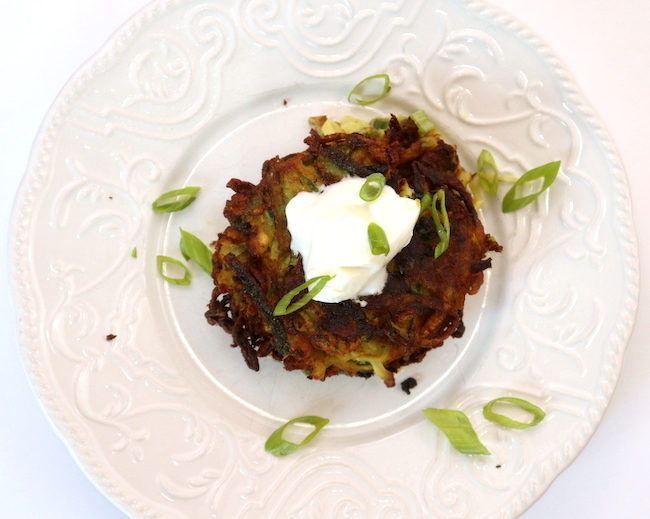 vegan gluten free zucchini fritters