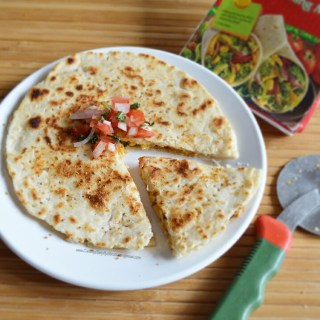 Cheesy Quesadilla with Salsa